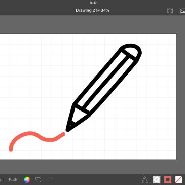 Een SVG bestand maken op je iPad