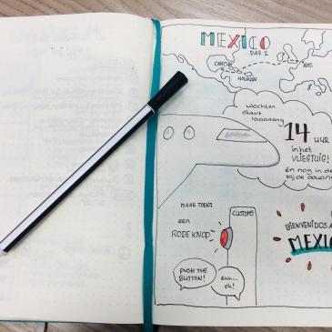 Sketchnotes op vakantie - Travel journal voorbeeld 1