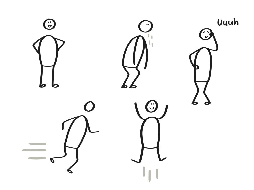 Zakelijk Tekenen - Poppetjes houding & beweging